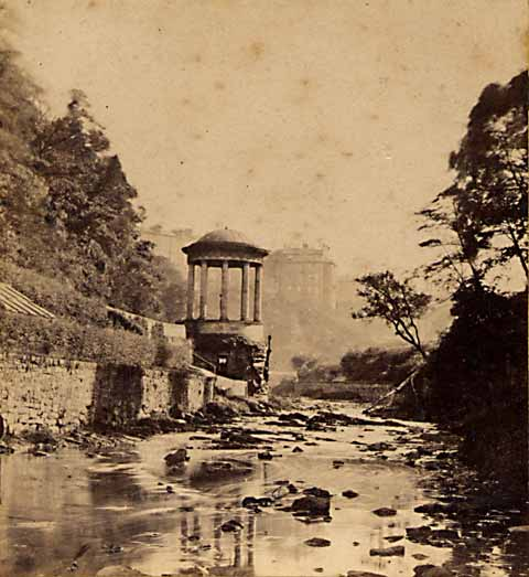 Enlargement of stereo view from Lennie  -   St Bernard's Well on the Water of Leith
