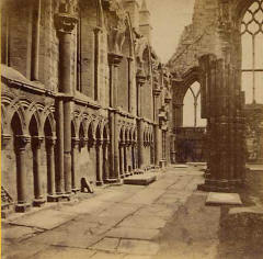 Image from a McGlashon Scottish Stereograph  -  Holyrood Abbey (North Sidel)
