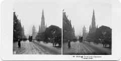 A stereo view by NPG  -  Looking to the east along Princes Street from the foot of the Mound