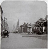 One half of a Stereo View of Princes Street by Rotary Photo EC.  Early-1900s