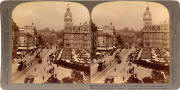 Underwood & Underwood  -  Stereo view looking to the east from the Scott Monument, along Princes Street towards Calton Hill