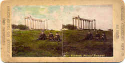 Stereo view of National Monument on Calton Hill  -  Universal Stereoscopic View Company