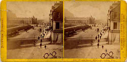 Stereoscopic View by Valentine  -  Princes Street and National Galleries