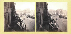GW Wilson stereo card - Princes Street  -  An instantaneous view taken in 1859