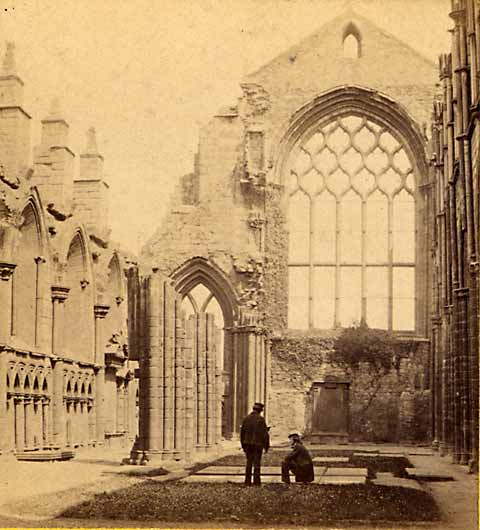Enlargement of GW WIlson stereo card - Holyrood Chapel