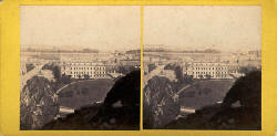 Stereo View by George Washington Wilson  -  Holyrood Palace from Arthur's Seat