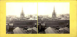Stereo view by G W Wilson  -  An instantaneous view of 'Royal Albert' in the Firth of Forth