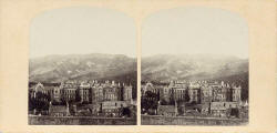 Enlargement from a stereo view by an unidentified photographer  -  Holyrood Abbey and Palace