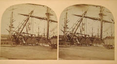 Stereoscopic View of Leith Docks  -  Photographer unknown