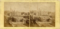 Stereo view by an unidentified photographer  -  National Galleries and the Free Church of Scotland