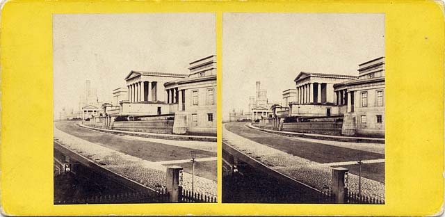 A stereo view by an unidentified photographer  -  Royal High School