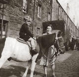 Lillian Patterson's Brother on a Pony in East Thomas Street