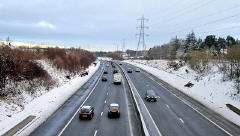 Edinburgh Bypass  -  View from Torphin Road  -  December 2009