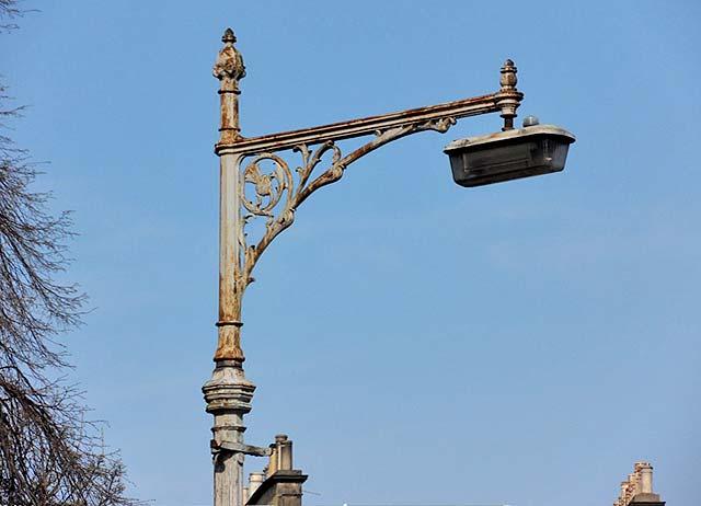Lamp Post In Glenfinlas Street New Town Edinburgh
