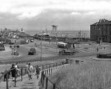 Looking down on Granton Square and across to Granton Harbour  -  possibly about 1950