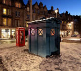 Telephone Kiosk and Police Box in the Grassmarket - November 2010