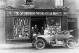Old Car parked outsideThe St Stephen's Motor & Cycle Depot, 10 Hamilton Place, Stockbridge