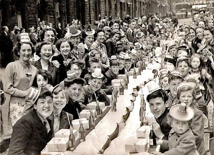 Heriot Hill Terrace  -   Coronation Street Party  -  1953