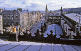 Looking down the Royal Mile from the roof of St Gile's Church - 1992