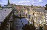 Looking up the Royal Mile from the roof of St Gile's Church - 1992
