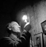 Mr Jardine using a Gas Mantle at Horse Wynd, 1970