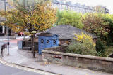 Police Box at Howard Place, beside the Water of Leith, on the corner of Brandon Terrace and Inverleith Row - Photographed October, 2010