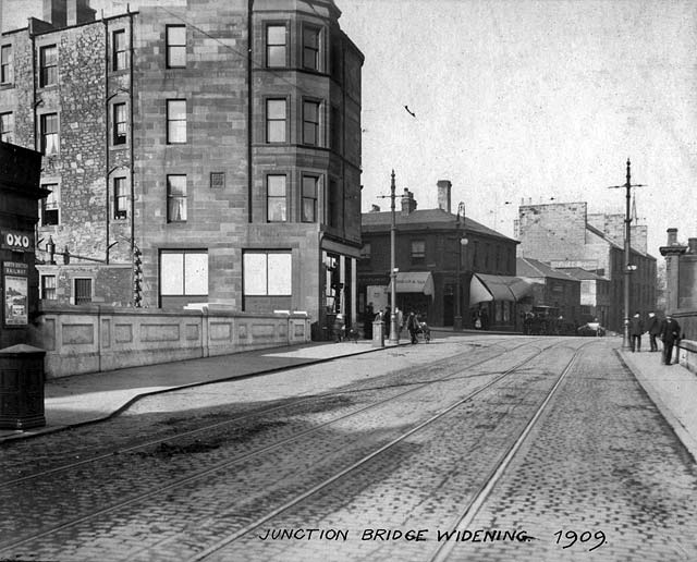 Junction Bridge, Leith  -  Road Widening  -  1909