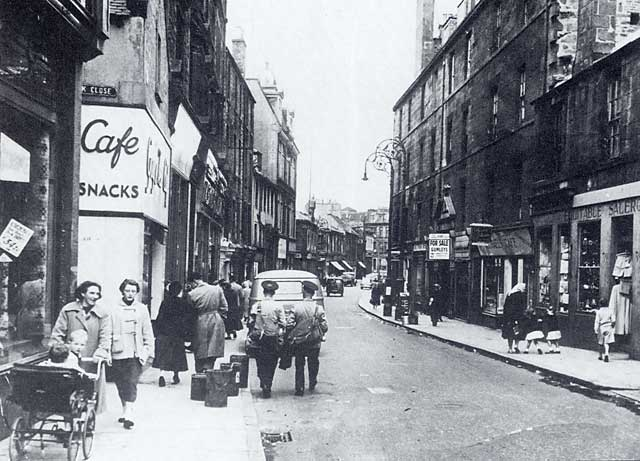 The Kirkgate, Leith  -  Photograph taken in the 1950s before redevelopment as a shopping centre