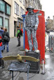 Lawnmarket  -  Grey Man and Birds  -  Edinburgh Festival Fringe 2011
