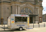 La Creperie snack van parked outside the Usher Hall in Lothian Road