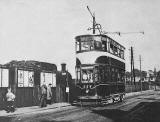 Looking to the east along Lower Granton Road  -  Tram and Train
