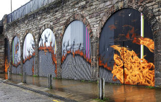 Street Art and Graffiti, Edinburgh, Market Street  -  from 2014