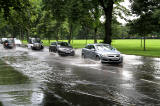 Flooding at Melville Drive on the south side of The Meadows  -  August 29, 2012