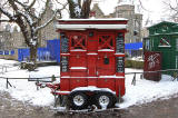Police Box and Snack Bar, Lauriston Place, at the northern end of Middle Meadow Walk  January 2010