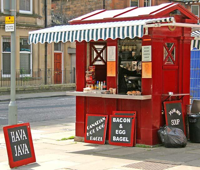 Snack bar at the corner of Morningside Road and Morningside Park