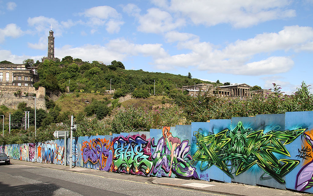 Street Art and Graffiti, New Street, Edinburgh  -  August 2012