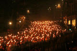 Torchlight Procession to mark the start of Edinburgh's New Year Celebrations  -  29 December 2005