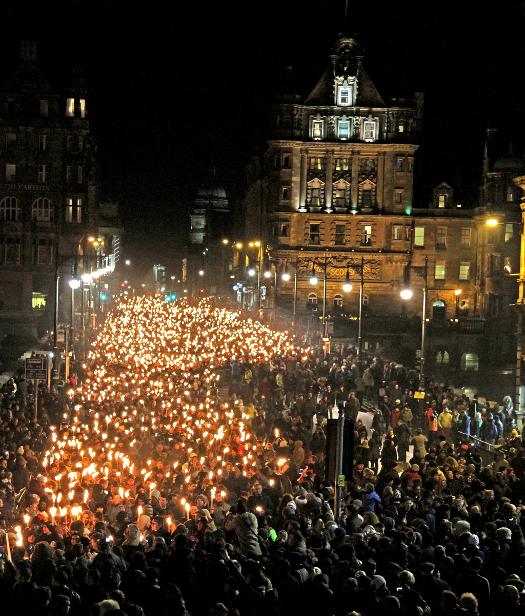 Edinburgh Torchlight Procession  -  December 30, 2012