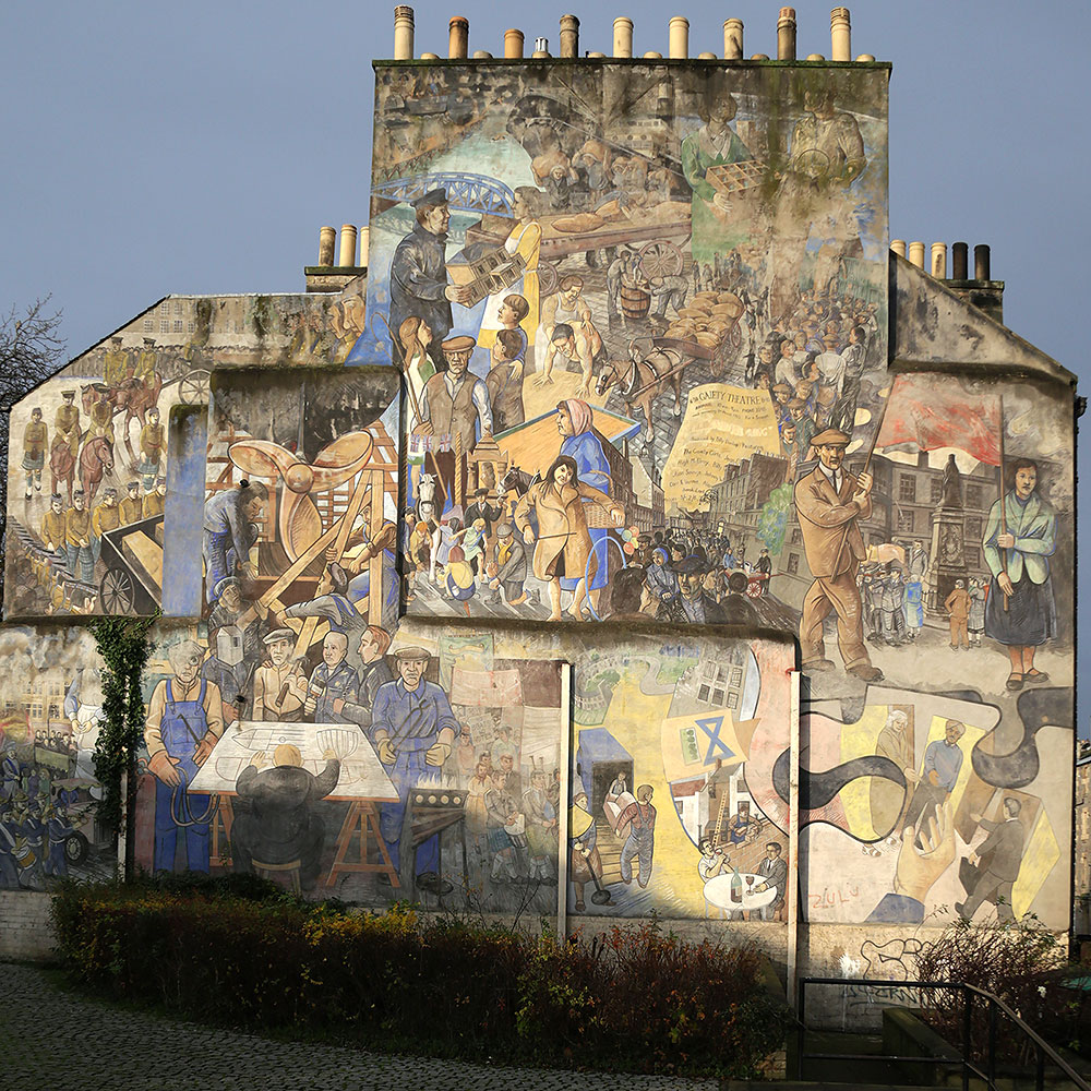 Mural, North Junction Street, Leith,  November 2014