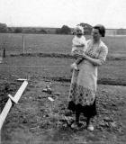 Bob sinclair and his mother - Photo taken behind 317 Pilton Avenue, 1937