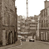 Looking to the north down The Pleasance towards St Mary's Street