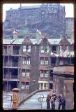 Photograph taken by Charles W Cushman in 1961 - Portsburgh Square and Edinburgh Castle