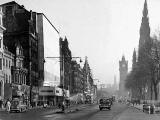 Princes Street Lamp Posts in late-1950s  -  Jenners and other shops
