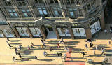 Looking down on Jenners from the Scott Monument  -  Late afternoon shadows in September 2007