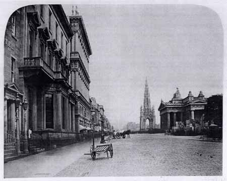 Princes Street  -  Looking East from Frederick Street  -  1858