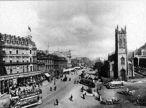 View from the West End of Princes Street  -  1902  -  JCH Balmain