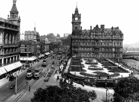 Princes Street  -  Looking East from Scott Monument  -  c.1930