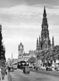 Photograph by Norward Inglis  -  View to the east along Princes Street from Hanover Street  -  early-1950s