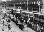 Trams and Cars near the East End of Princes Street in the 1950s