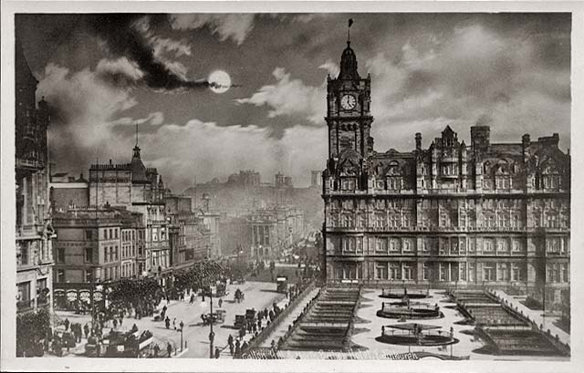 Princes Street, looking East - post card - Alex Anderson